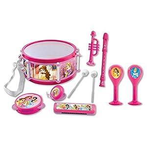 Disney- Princesas Conjunto Musical 7 Instrumentos en 1, Juguete Infantil a Partir de 3 años (Lexibook K360DP) Set, Color Rosa (