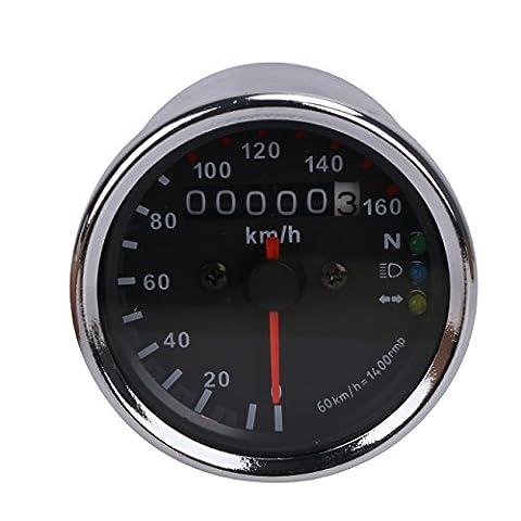 Aochuang Moto Compteur de vitesse Odomètre tachymètre Speedo Mètre LED pour Honda Harley Kawasaki Suzuki Yamaha