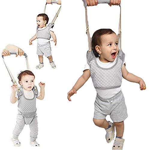 rgang Sicherheit Kabelbaum, Lauflernhilfe Gehhilfe für Baby, Stehen Gehen Lernen Helfer Walker, Kleinkind Fuß Assistent Weste, für Kinder 8-24 Monthe(Grau) ()