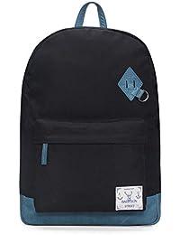 Bareskin Blue Color Canvas And Blue Color Genuine Leather Trimmed Laptop Backpack For Men/Laptop Bags For Men/...