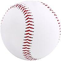 Kanggest 9 Pulgadas de Béisbol Blanco Balón de Entrenamiento Suave Golpeó la Pelota Mascota Perro Masticar Bola Juguetes para Mascotas