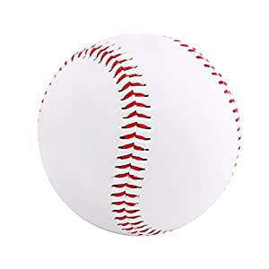 Demarkt Baseball Trainingsball Softbälle Weicher Ball für Baseball Schläger Weiß