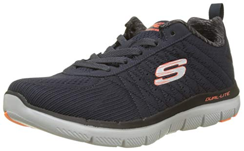 Skechers Herren Flex Advantage 2.0 - The Happs Outdoor Fitnessschuhe, Blau (Dark Navy), 42.5 EU - Oxford Lite Boot