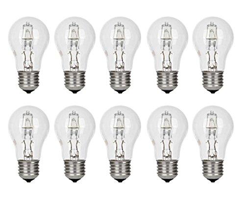 10er Pack GE Lighting Halogen Glühlampe Glühbirne 30W U003d 40W E27 405lm 2800K  Warmweiß 0043168983655 [