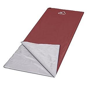 Terra Hiker Sac de Couchage Envelope Ultraléger et Compact 195 x 75 cm, 750g ( Couleur Aux Choix )