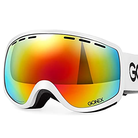Gonex Masque de Ski de Snowboard Lunette de Neige Protection UV400 Tous Temps