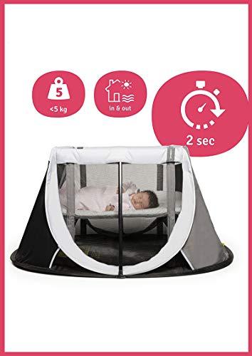AEROMOOV - Lit de voyage Instant - Permet à votre enfant de faire une sieste partout où vous allez - Compact et Léger (Grey Rock)