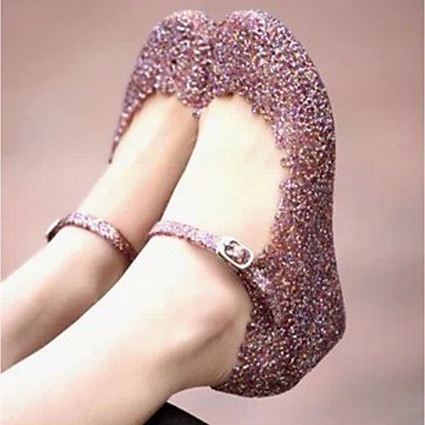 Scarpe Donna WOMEN'S sandali della gelatina di estate scarpe in pvc Casual Zeppa Blushing Rosa Argento Nero US5.5 / EU36 / UK3.5 / CN35