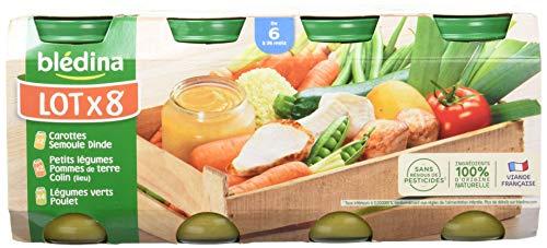 Blédina Assortiment de 24 Petits Pots Légumes, Viande et...