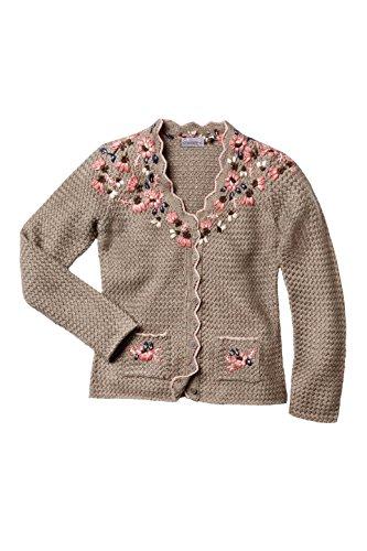 Stockerpoint - Damen Trachten Strickjacke, Florica, Größe:48;Farbe:Nuss