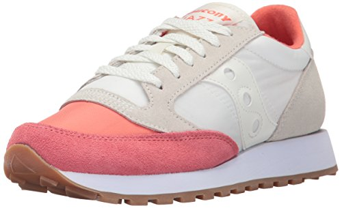 Saucony Damen Jazz Original Sneakers, Elfenbein (Coral/Cream), 37.5 EU (Frauen Saucony Für Originals)