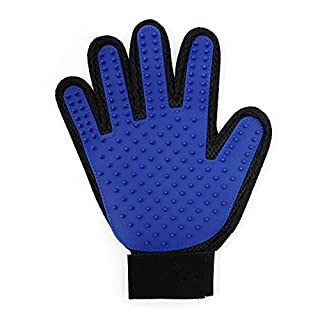 Almondcy Pet Dog Cat Grooming Glove Brush, Pet Deshedding Glove for Long or Short Hair, Pet Grooming Clean Massage Gloves