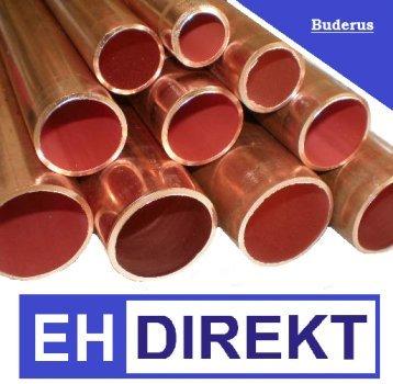 Preisvergleich Produktbild Buderus Kupferrohr 22 x 1,0 mm halbhart in 5 Meter Stangen