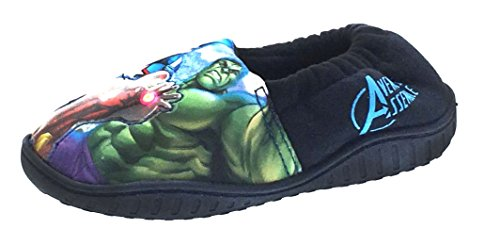 Per bambini Marvel Avengers luce up Pantofole Slip On taglia UK 10 - 3, blu (Navy), 36 EU