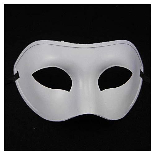 Kinder Maske Prom Prinzessin Half Face Retro Herren Erwachsenen Frauen Fox Girl Sexy Maske (Color : White) ()