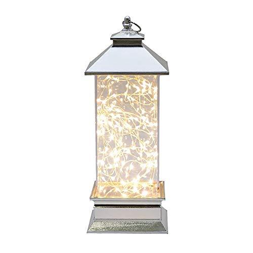 GCCLCF Inicio lámpara de sobremesa Creativa Regalo Amante Regalo Fuego árbol Plata...
