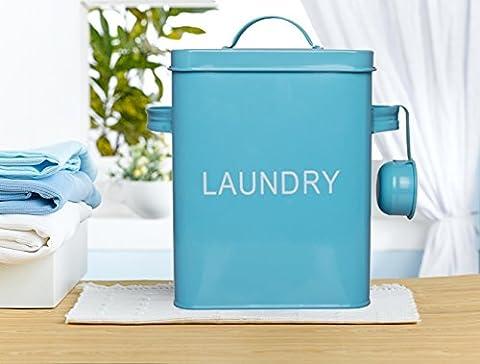 Vintage Laundry Tin 6 litres, décor de salle de lavage avec 4 sacs de lavage, cadeaux pour maman