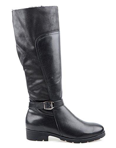 Eyekepper Chaussure fashion mode - chaussures fermuture a glissiere botte hiver femme demoiselle Noir