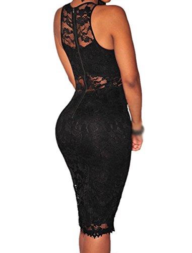 Dissa® SY22379 femme sexy Robe à taille Noir