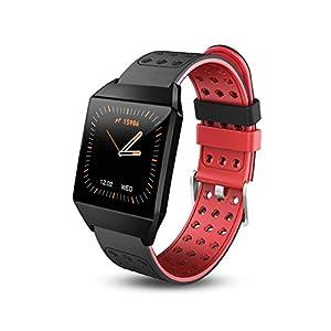 HQHOME Smartwatch,Fitness Armband Uhr Voller Touch Screen IP68 Wasserdicht Fitness Tracker Sportuhr mit Schrittzähler Pulsuhren Stoppuhr für Damen Herren Smart Watch für iOS Android Handy