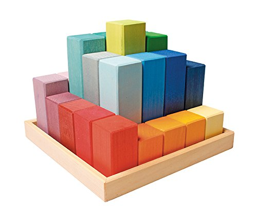 Holzkotz Set, vielfarbig