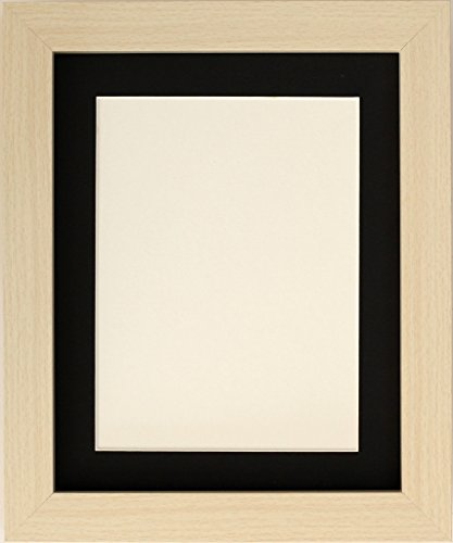 Taillierte Frames-Maple Square Design Bilderrahmen Größe 61x 50,8cm für 50x 40cm mit schwarzem Passepartout, zum Aufhängen.