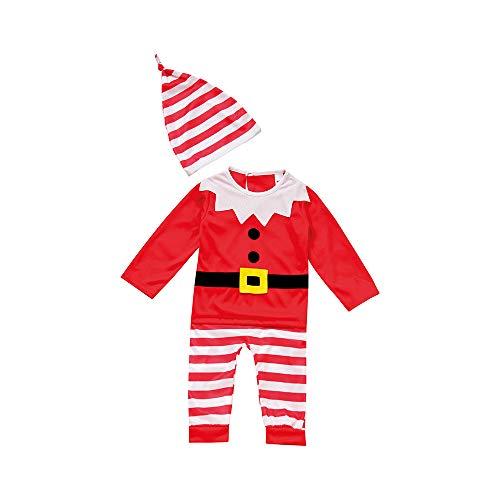 Für Awesome Kleinkind Kostüm - christmasshop Baby-Kleinkind-Weihnachtself-festliches Kostüm-Outfit - Red/White - 912