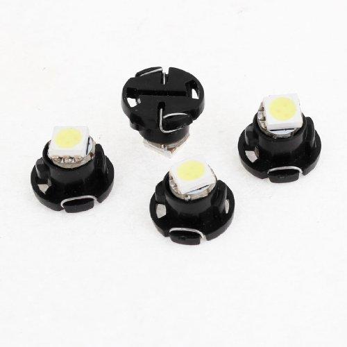 sourcingmap® 4 teile T4.7 Weiß 5050 SMD LED Armaturenbrett Armaturen Anzeige Glühbirne Für Auto