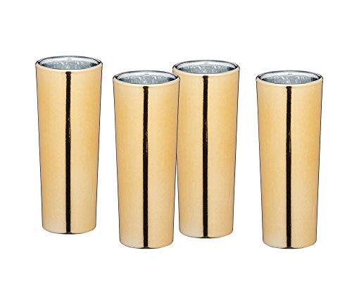 ftGroße Schnapsgläser, 60 ml Metallisches Gold Finish, Glas, 3.9 x 3.9 x 10.4 cm, 4-Einheiten ()