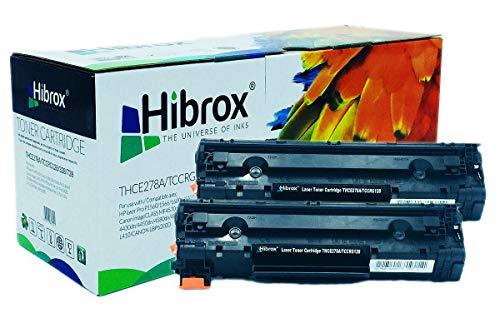 Pack 2Pcs Hibrox Toner Compatible HP CE278A 78A Canon 128 CRG728 pour Canon ISENSYS FAX L150 FAX L170 FAX L410 MF 4410 4430 4450 4550 4550D 4570 HP LASERJET P 1606 DN P1566 LASERJET PRO M 1530 M1536