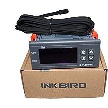 Inkbird ITC-2000 Dispositivo para Digital Relé 220V Controlador Temperatura , Regulador Refrigeración Calefacción Termostato Bomba Agua,Termo Electrico con Sonda,Relé Alarma