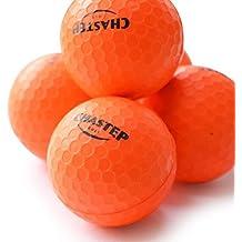 Pelotas de espuma para practicar golf Chastep, para interiores o exteriores; vuelo limitado, espuma de alta densidad. 12piezas color naranja