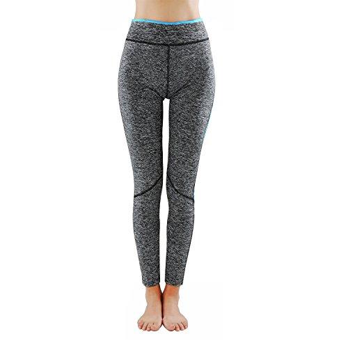 L&K-II Leggings Donne pantaloni di corsa con inserti in rete Fitness Yoga pantaloncini sportivi 4113 Blu