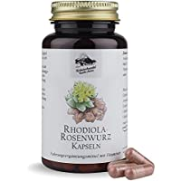Rhodiola-Rosenwurz Kapseln • 200 mg Rhodiola Rosea Extrakt • Aroniabeeren Extrakt • Vitamin B1 + B6 • 120 Kapseln • OHNE Magnesiumstearat • Deutsche Premium Qualität • Kräuterhandel