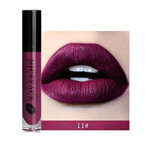 Rouge À Lèvres Sonnena 2018 Nouvelle Lip Lingerie Matte Liquide Lip Imperméable À l'eau Maquillage Shades Gloss 12 Teintes Rouge/Noir/Gris/Brun (11#)