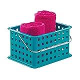 iDesign Basic – Small Basket Aufbewahrungskorb mit Griff | kleiner Kunststoffkorb für jeden Raum | stapelbarer Gitterkorb für Spielzeug, Badzubehör und mehr | Kunststoff türks