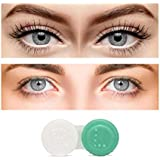Choice Empire Monthly Color Contact Lenses Zero Power Combo Pack of 2 Pair Dark Grey-Grey Color with Lens Container Kit