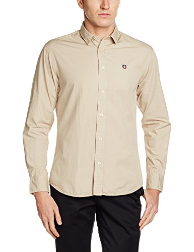Highlander Men's Casual Shirt (13110001456036_HLSH008836_X-Large_Epic Khaki)  available at amazon for Rs.399
