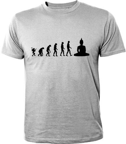 Mister Merchandise T-Shirt Evolution Buddha - Uomo Maglietta S-XXL -
