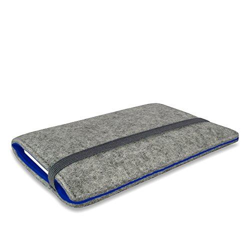 Stilbag Filztasche 'FINN' für Apple iPhone 4/4S - Farbe: hellgrau/schwarz hellgrau/blau