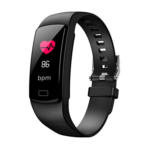 Dorical Fitness Armband, Activity Tracker mit Schrittzähler, Herzfrequenzmessung, Kalorienzähler, Stoppuhr, Schlafanalyse, OLED Touchscreen, Benachrichtigungen, Outdoor GPS Wasserdicht(Schwarz)