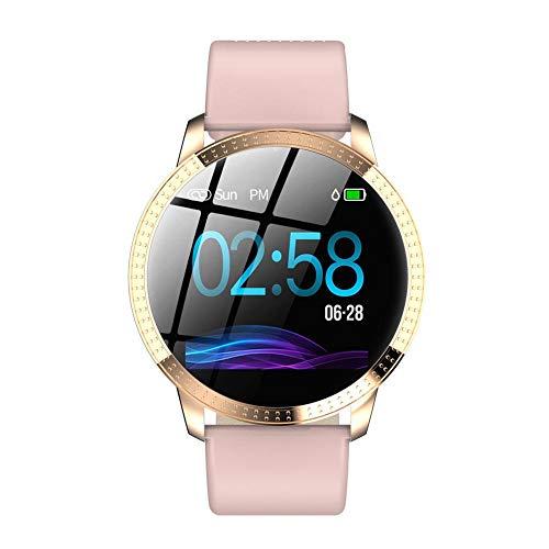 Montre intelligenteFemmes Bracelet en métal haut de gamme IP67 Étanche Smart Bracelet avec Sports Podomètre Détection de la fréquence cardiaque Analyse du sommeil Appel Rappel Fonctions Hommes