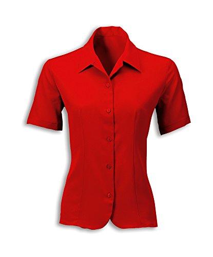 Alexandra stc-2035rd-22Damen Crepe de Chine Bluse, Uni, 100% Polyester, Größe: 22, rot (Crêpe De Bluse Chine)