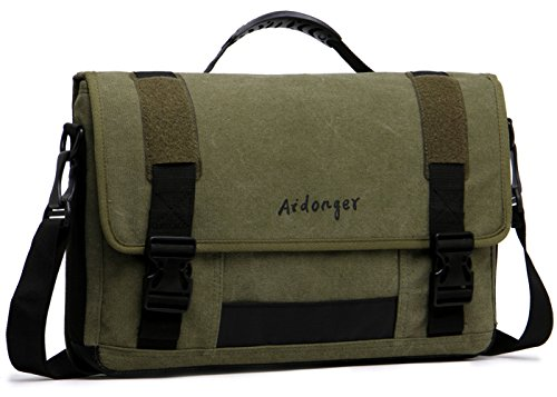 aidonger-unisex-canvas-173-inch-laptop-bag-retro-messenger-bag-army-green