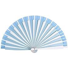 Azul Abanicos Baratos  Rafia Mimbre Chinos Lote de 20 Pai Pai Bamb/ú Papel