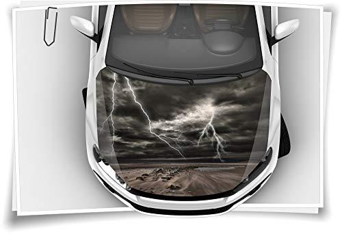 Medianlux Blitz Donner Gewitter Storm Motorhaube Aufkleber Autoaufkleber Airbrush RapidAir Tuning