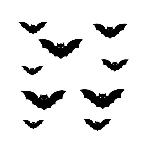 Abnehmbare Halloween Stil Wandaufkleber Evil Bat Bar-Store Fenster Decor
