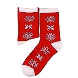 Paolian Femmes hommes Noël Santa claud dessin animé chaussette de coton chaussette cheville (Taille libre, E)