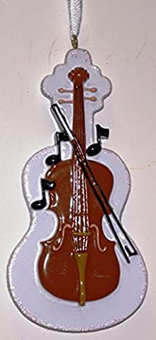 Violin Ornament Personalized Christmas Tree Ornament by Rudolph and Me Ornaments
