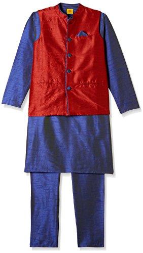 612 League Boys' Kurta Pyjama (ILW17I19010_Royal_11 -12 years)